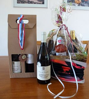 running race medal and wine