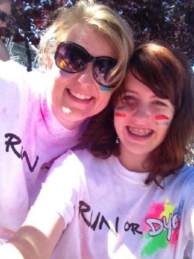 color run with my girls