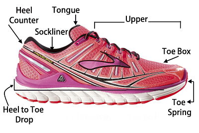 running shoe terms