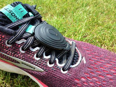 Stryd power meter on shoe