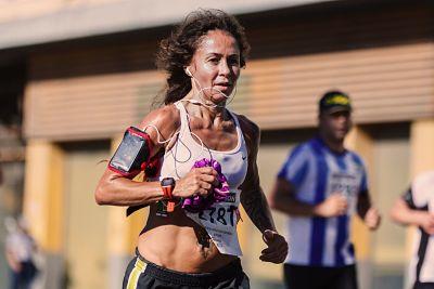 Veteran female runner